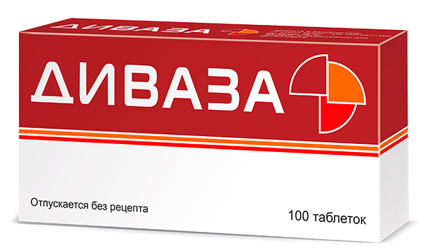 Диваза® — препарат для сосудов мозга, таблетки для сосудов мозга